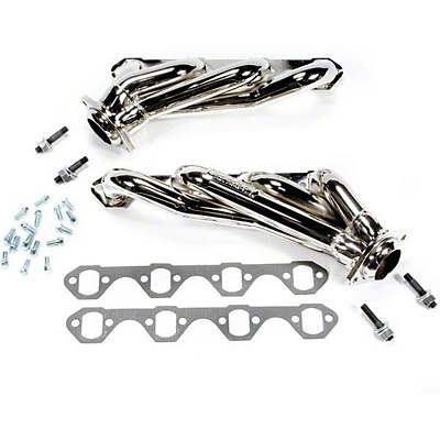 BBK Chrome Unequal Length Shorty Headers (79-93 5.8L)