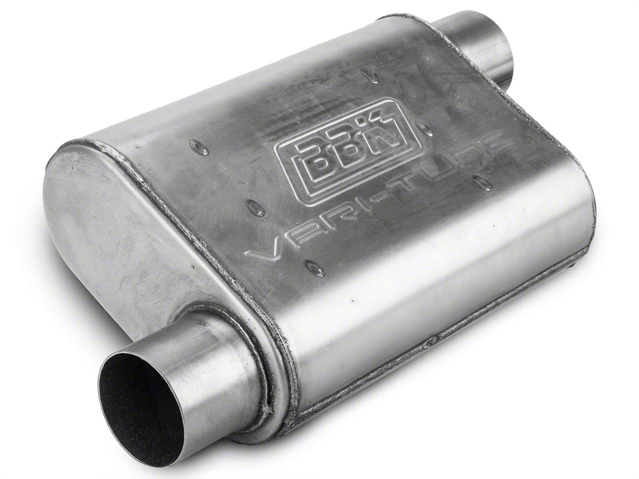 BBK Varitune Muffler - Stainless Steel 2.75 in. (79-04 All, Excludes 99-04 Cobra)