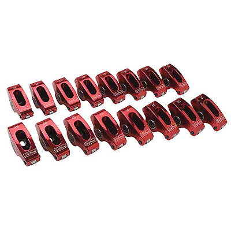 Edelbrock Red Performance Roller Rocker Arms - 1.6 Ratio (79-95 5.0L)