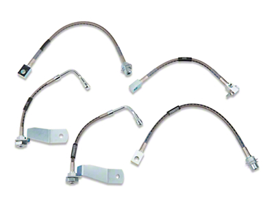 Russell Stainless Steel Braided Brake Line Kit - Front & Rear (94-95 GT)