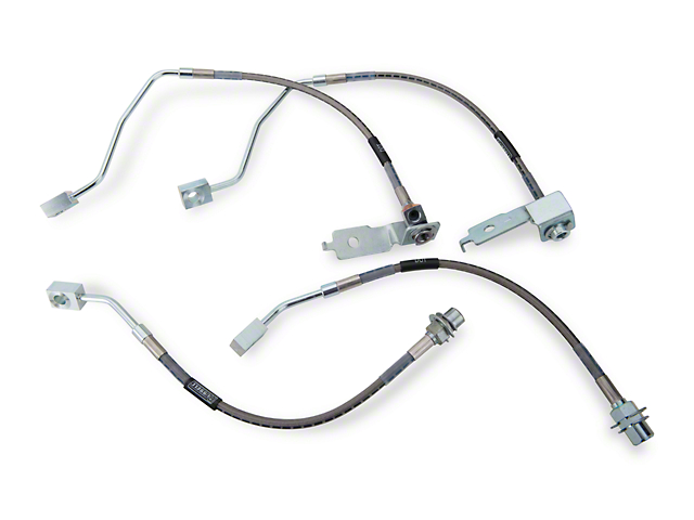Russell Stainless Steel Braided Brake Line Kit - Front & Rear (96-98 GT)