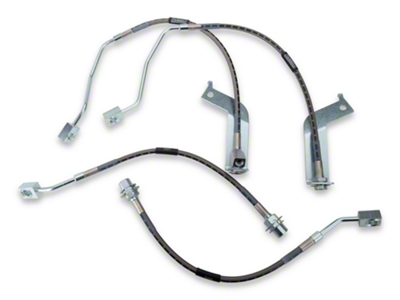 Russell Stainless Steel Braided Brake Line Kit - Front & Rear (99-04 GT, V6 w/o Traction Control)