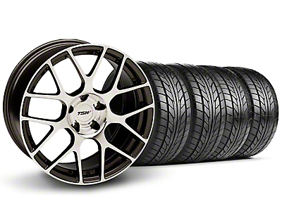 Staggered TSW Nurburingring Gunmetal Wheel & NITTO Tire Kit - 18x8/9 (05-14)