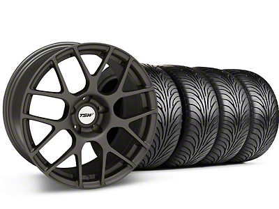 Staggered TSW Nurburingring Matte Gunmetal Wheel & Sumitomo Tire Kit - 18x8/9 (05-14)