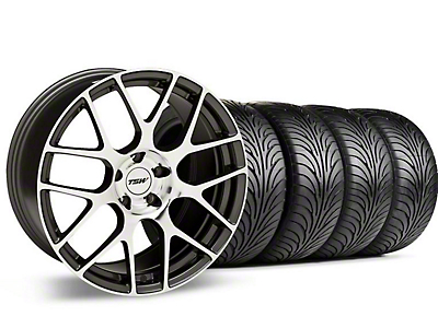 TSW Staggered Nurburingring Gunmetal Wheel & Sumitomo Tire Kit - 18x8/9 (05-14)