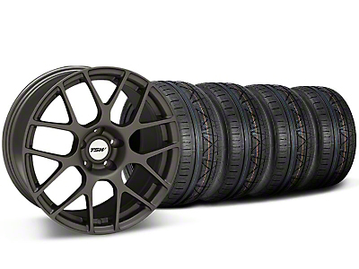 TSW Staggered Nurburingring Matte Gunmetal Wheel & NITTO INVO Tire Kit - 18x8/9 (05-14)