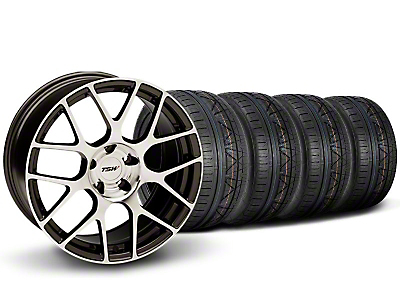 TSW Staggered Nurburingring Gunmetal Wheel & NITTO INVO Tire Kit - 18x8/9 (05-14)