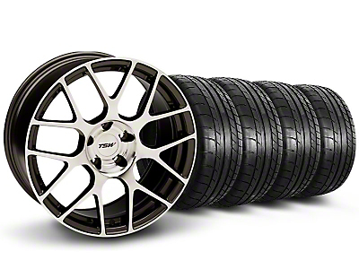 Staggered TSW Nurburingring Gunmetal Wheel & Mickey Thompson Tire Kit - 18x8/9 (05-14)