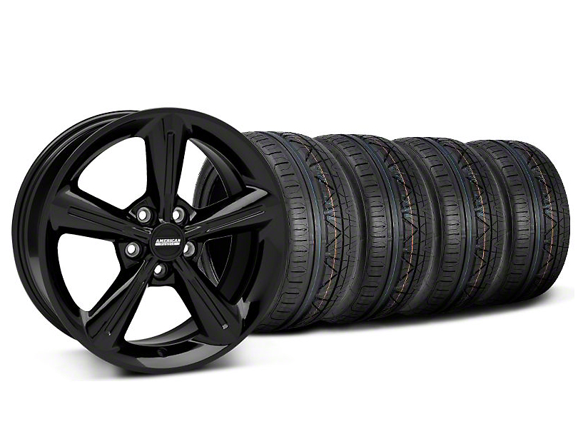 Staggered 2010 OE Style Black Wheel & NITTO INVO Tire Kit - 18x8/10 (05-14 GT, V6)