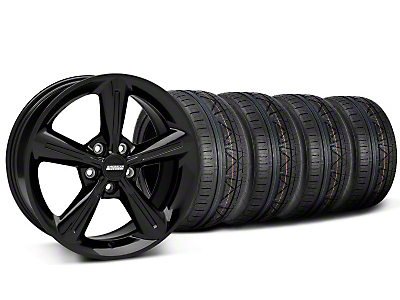 Staggered 2010 OE Black Wheel & NITTO INVO Tire Kit - 18x8/10 (05-14 GT, V6)