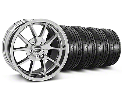Staggered FR500 Style Chrome Wheel & NITTO INVO Tire Kit - 18x9 (05-14)