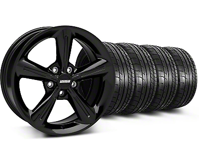 Staggered 2010 OE Style Black Wheel & Mickey Thompson Tire Kit - 18x8/10 (05-14 GT, V6)