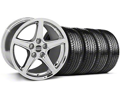 Staggered Saleen Chrome Wheel & Sumitomo Tire Kit - 19x8.5/10 (05-14 GT, V6)