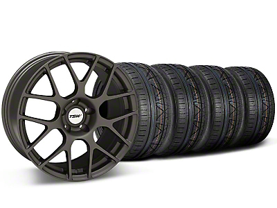 TSW Staggered Nurburgring Matte Gunmetal Wheel & NITTO INVO Tire Kit - 19x8.5/9.5 (05-14)