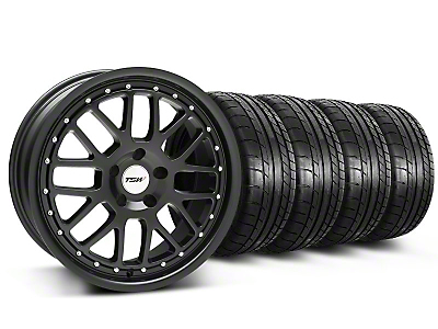 TSW Staggered Valencia Matte Black Wheel & Mickey Thompson Tire Kit - 19x8/9.5 (05-14)