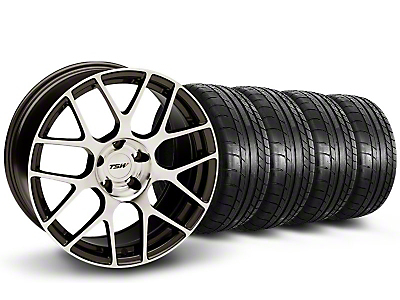 TSW Staggered Nurburgring Gunmetal Wheel & Mickey Thompson Tire Kit - 19x8.5/9.5 (05-14)