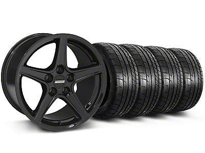 Staggered Saleen Black Wheel & Mickey Thompson Tire Kit - 19x8.5/10 (05-14 GT, V6)