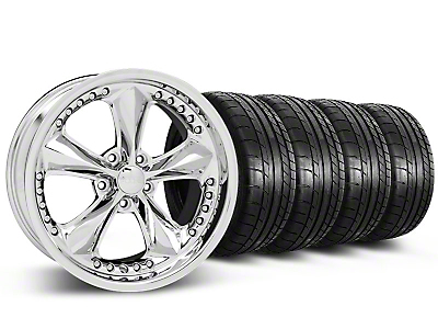 Staggered Foose Nitrous Chrome Wheel & Mickey Thompson Tire Kit - 20x8.5/10 (05-14 GT, V6)