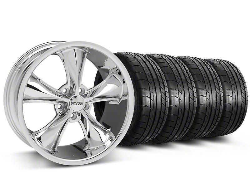 Staggered Foose Legend Chrome Wheel & Mickey Thompson Tire Kit - 20x8.5/10 (05-14 GT, V6)