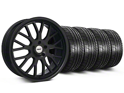 Staggered TSW Tremblant Matte Black Wheel & Mickey Thompson Tire Kit - 20x8.5/10 (05-14)