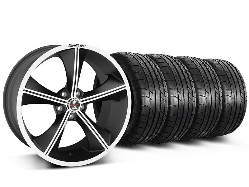 Staggered Shelby CS70 Matte Black Wheel & Mickey Thompson Tire Kit - 20x9/10 (05-14)