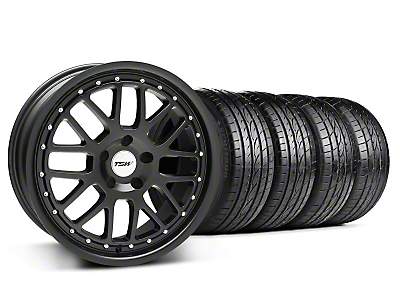 Staggered TSW Valencia Matte Black Wheel & Sumitomo Tire Kit - 20x8.5/10 (05-14)