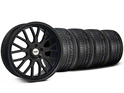 Staggered TSW Tremblant Matte Black Wheel & NITTO INVO Tire Kit - 20x8.5/10 (05-14)