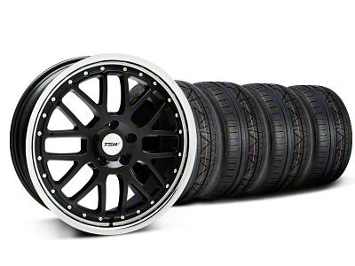 TSW Staggered Valencia Black w/ Polished Lip Wheel & NITTO INVO Tire Kit - 20x8.5/10 (05-14)