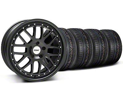 Staggered TSW Valencia Matte Black Wheel & NITTO INVO Tire Kit - 20x8.5/10 (05-14)