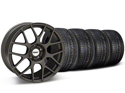 Staggered TSW Nurburing Matte Gunmetal Wheel & NITTO INVO Tire Kit - 20x8.5/10 (05-14)