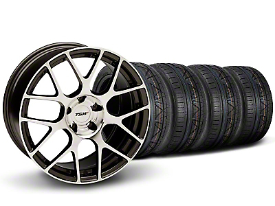 Staggered TSW Nurburgring Gunmetal Wheel & NITTO INVO Tire Kit - 20x8.5/10 (05-14)