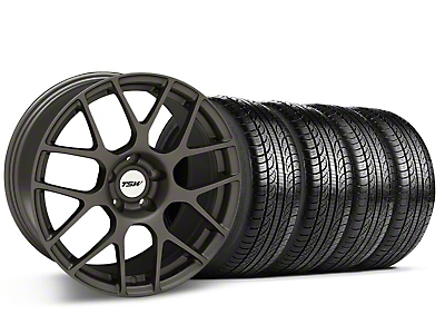 TSW Nurburingring Matte Gunmetal Wheel & Pirelli Tire Kit - 18x8 (05-14)