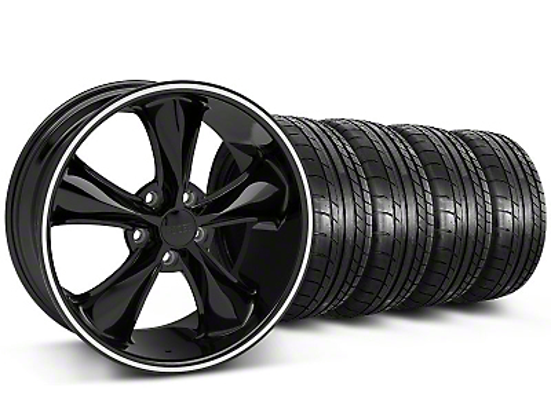 Foose Legend Black Wheel & Mickey Thompson Tire Kit - 18x8.5 (05-10 GT, V6)