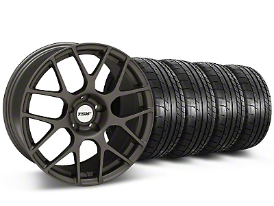 TSW Nurburingring Matte Gunmetal Wheel & Mickey Thompson Tire Kit - 18x9 (05-14)