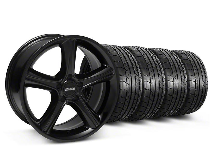 2010 GT Premium Style Black Wheel & Mickey Thompson Tire Kit - 18x9 (05-14 GT, V6)