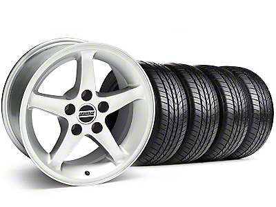 1995 Cobra R Silver Wheel & Sumitomo Tire Kit - 16x8 (87-93 5 Lug Conversion)