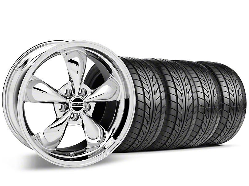 Bullitt Chrome Wheel & NITTO Tire Kit - 17x9 (87-93 5 Lug Conversion)