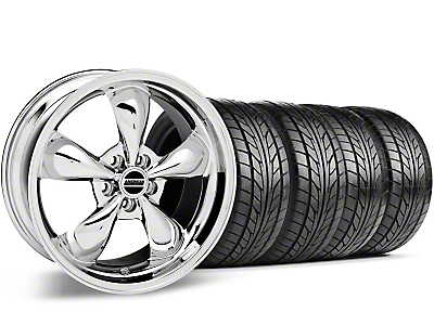 Bullitt Chrome Wheel & NITTO Tire Kit - 17x9 (87-93 5 Lug Conversion)