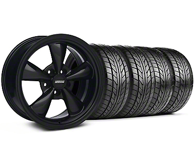 Bullitt Solid Black Wheel & NITTO Tire Kit - 17x9 (87-93 5 Lug Conversion)