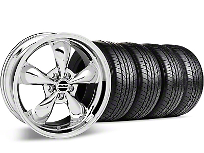 Bullitt Chrome Wheel & Sumitomo All Season Tire Kit - 17x9 (87-93 5 Lug Conversion)