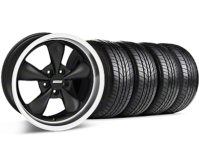 Bullitt Matte Black Wheel & Sumitomo All Season Tire Kit - 17x9 (87-93 5 Lug Conversion)