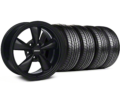 Bullitt Solid Black Wheel & Sumitomo All Season Tire Kit - 17x9 (87-93 5 Lug Conversion)