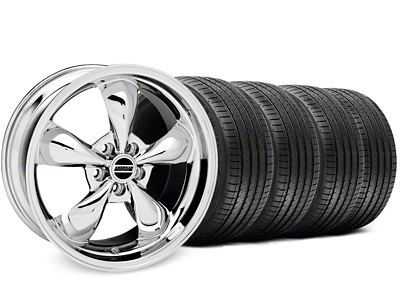 Bullitt Chrome Wheel & Sumitomo Tire Kit - 17x9 (87-93 5 Lug Conversion)