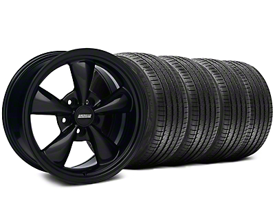 Bullitt Solid Black Wheel & Sumitomo Tire Kit - 17x9 (87-93 5 Lug Conversion)