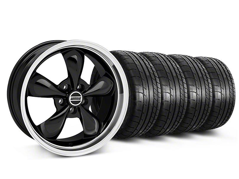 Bullitt Black Wheel & Mickey Thompson Tire Kit - 17x9 (87-93 5 Lug Conversion)