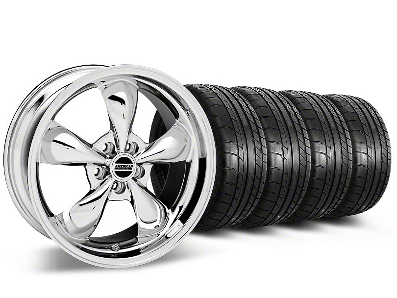 Bullitt Chrome Wheel & Mickey Thompson Tire Kit - 17x9 (87-93 5 Lug Conversion)