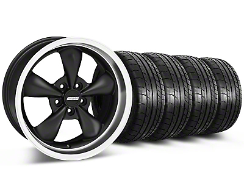 Bullitt Matte Black Wheel & Mickey Thompson Tire Kit - 17x9 (87-93 5 Lug Conversion)