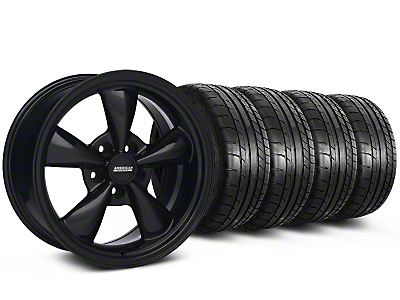 Bullitt Solid Black Wheel & Mickey Thompson Tire Kit - 17x9 (87-93 5 Lug Conversion)