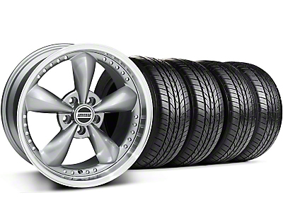 Bullitt Motorsport Anthracite Wheel & Sumitomo All Season Tire Kit - 18x9 (87-93 5 Lug Conversion)