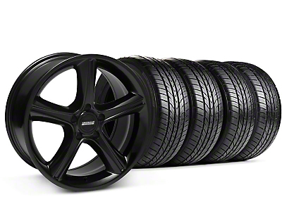 2010 GT Premium Black Wheel & Sumitomo All Season Tire Kit - 18x9 (87-93 5 Lug Conversion)
